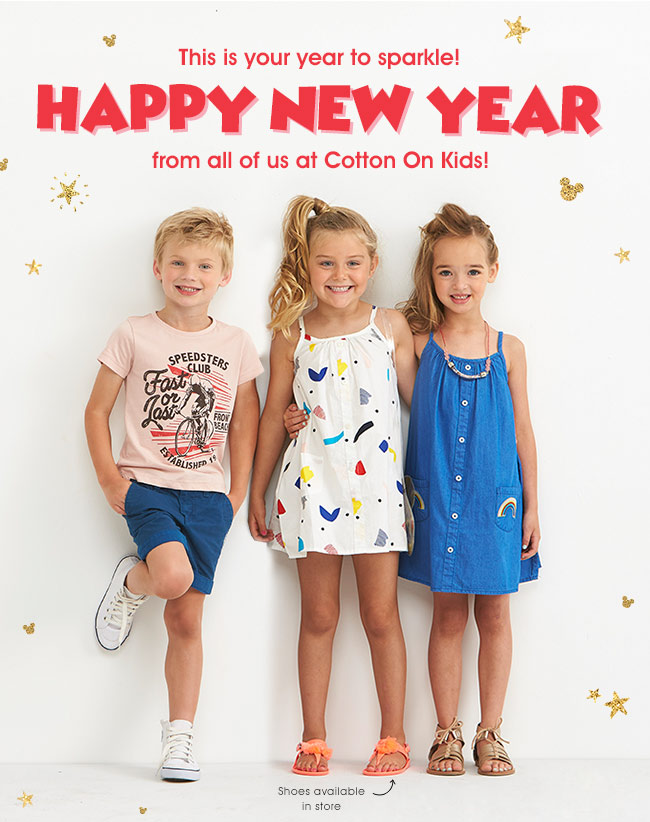 Happy New Year from us at Cotton On Kids!