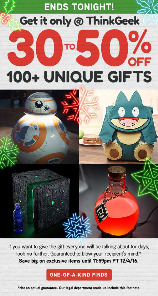 It's the grand finale to get great geek gifts
