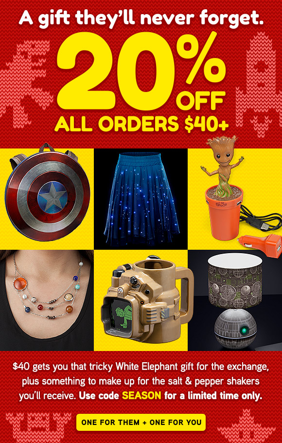 20% off your order for a limited time!