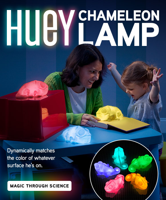 Huey the Color Copying Chameleon Lamp!