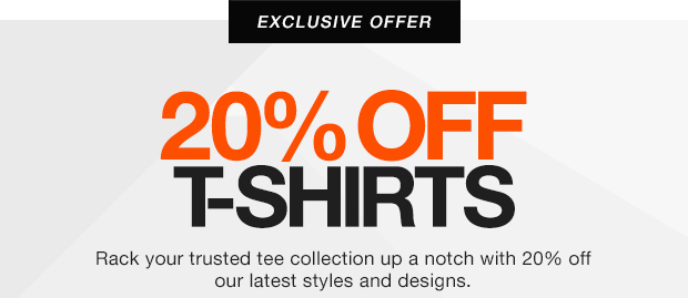 Winter Exclusives – 20% off Tees plus 3 for 2 Gifts