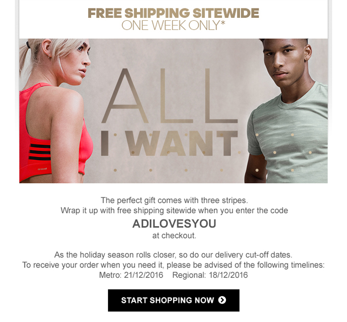Free Shipping – One Week Only
