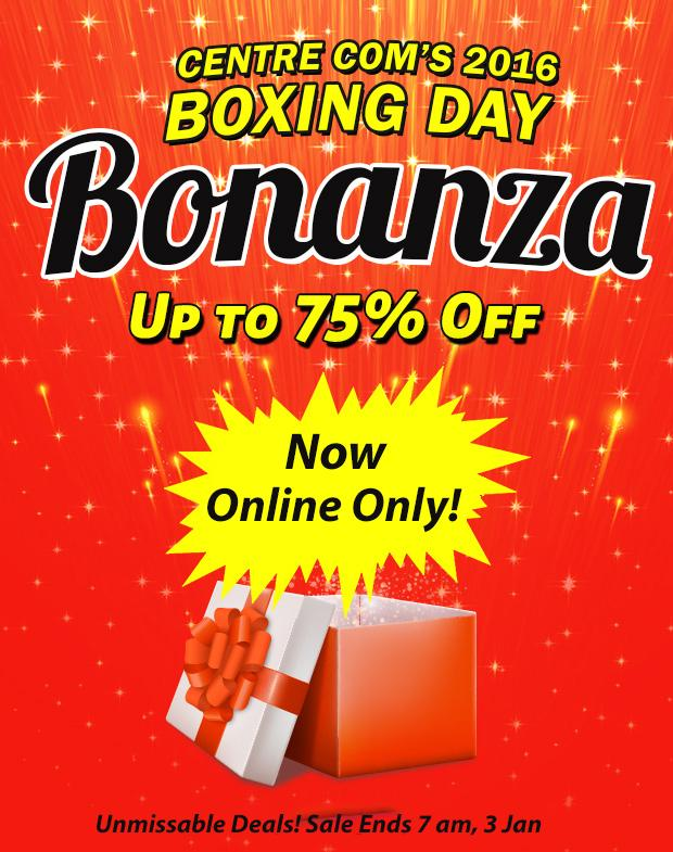 Happy New Year! Boxing Day Sale Continues Online.