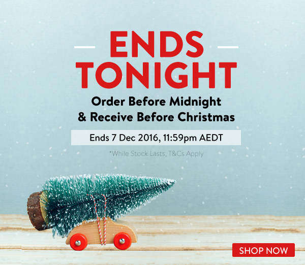 Last Chance for Delivery Before Christmas Day and Shipping is On Us!
