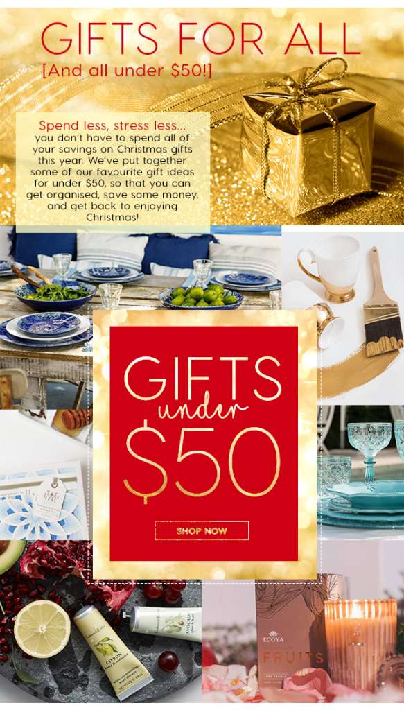 Your Christmas gifts sorted – with everything $50 and under!