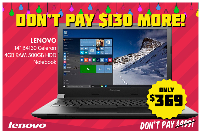 """NEW Lenovo 14"""" Notebook – Don't Pay $130 More!"""