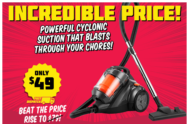2000W Cyclonic Vacuum Just $49 – Limited Time Price!