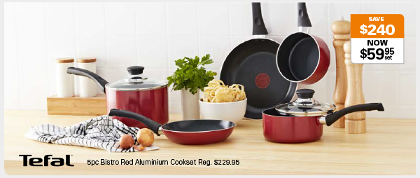 48hr Online Offer Only – Telfal Cookset Now $59.95 // Was $229.95