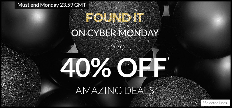 For one day ONLY… Cyber Monday is back!