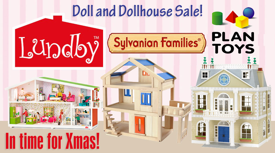 Doll's Houses Sylvanian, Lundby and Plan Toys – in time for Xmas!