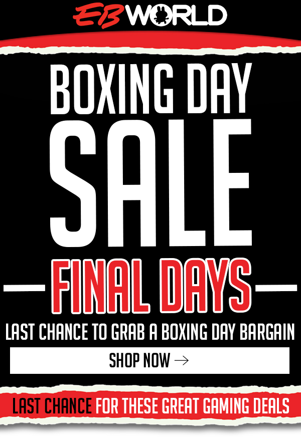 Final days – shop EB Games Boxing Day while it lasts!