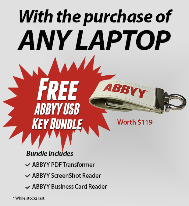 Top laptop brands low prices free usb key bundle shop online abbyy usb key bundle reheart Images