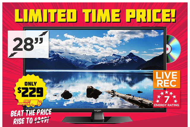 28″ TV & DVD Player Only $229 + NEW Unbelievable TV Bundle Offer!