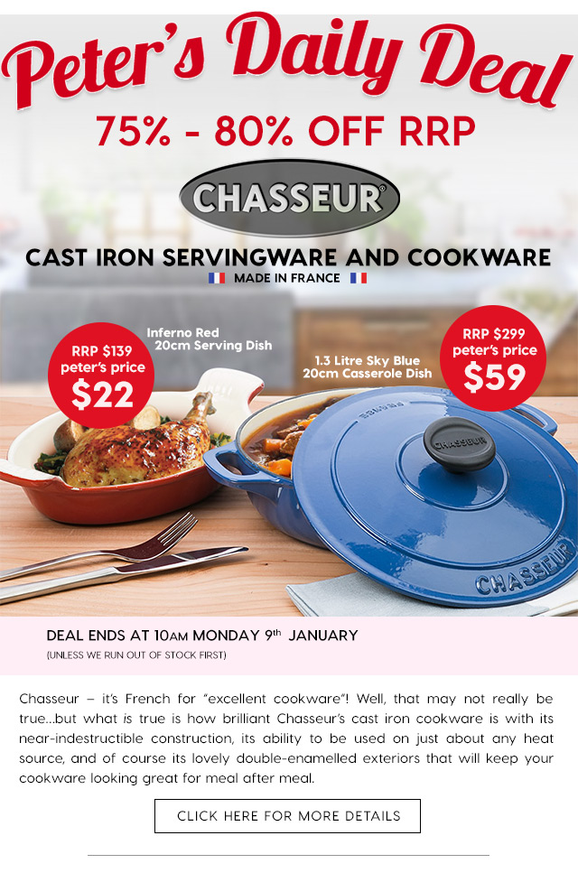 75 80 off chasseur cast iron servingware and cookware for Art and cuisine cookware