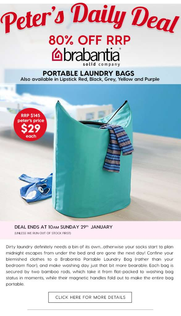 Over 75% off Brabantia's Portable Laundry Bags