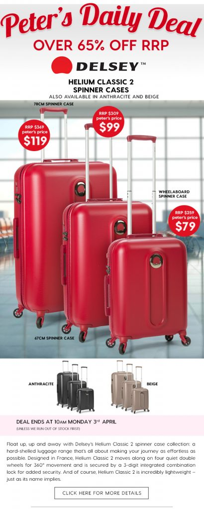 over 65 off delsey helium classic 2 spinner cases deals and coupons best bargains. Black Bedroom Furniture Sets. Home Design Ideas