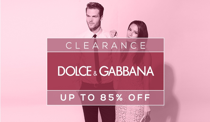 Dolce & Gabbana : Up to 85% Off