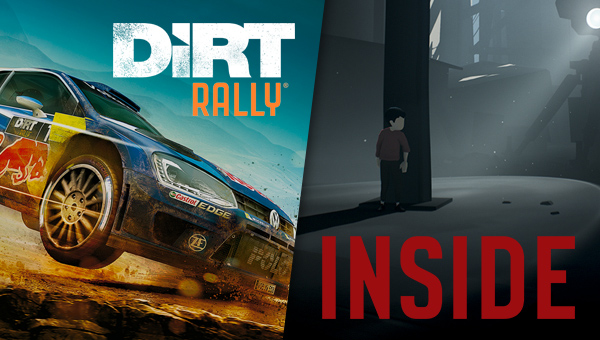 DiRT Rally and INSIDE are in the Humble Monthly for only $12!