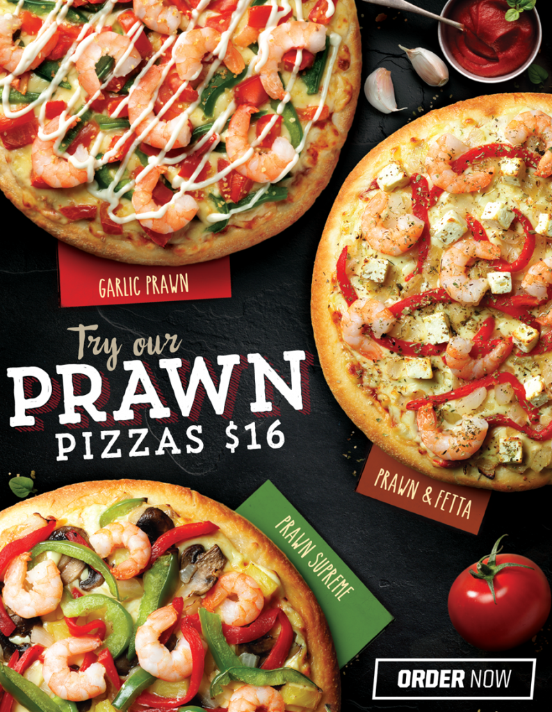Try our Prawn Pizza range this Good Friday! $16