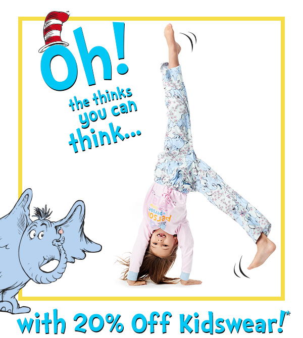 20% Off Kidswear! Think small and save big!