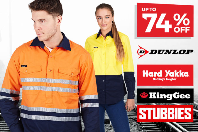 NEW STYLES ADDED!  Winter Workwear Apparel & Footwear … UP TO 74% OFF