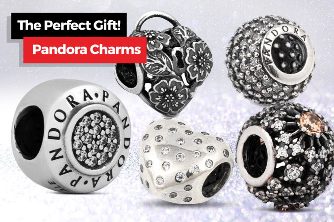 Pandora Accent Bead Ribbed Clip Charm – Silver  $29.99
