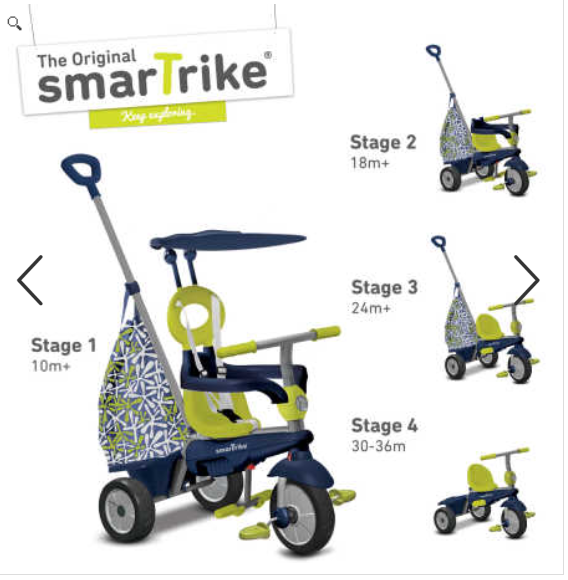 smart trike 4 in 1 groove trike green only save. Black Bedroom Furniture Sets. Home Design Ideas