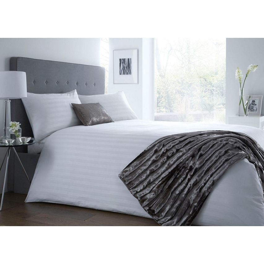 J By Jasper Conran White Sateen Stripe Bedding Set Now