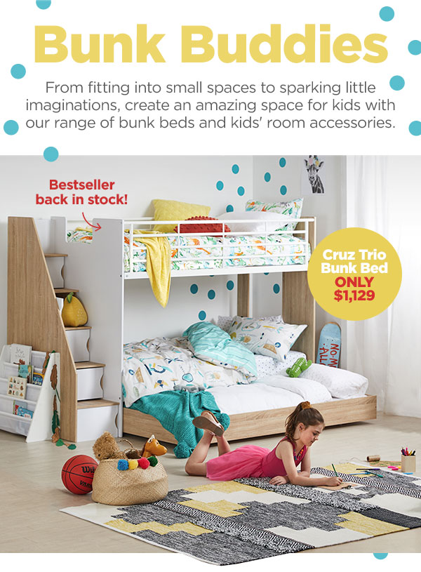 Bunk Beds For Small Spaces And Big Imaginations Cruz Trio Single