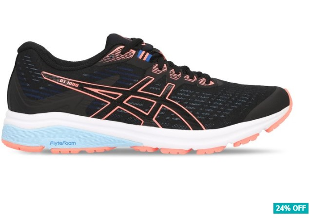 24% OFF ASICS Women's GT 1000 8 Running Sports Shoes Black